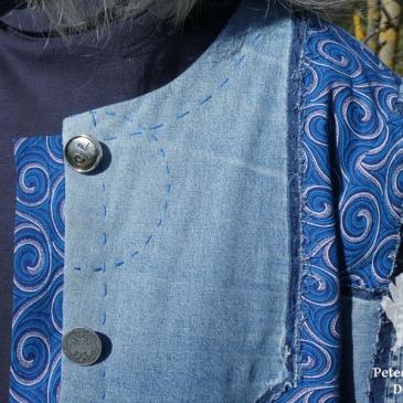 flickwerk jeans shweshwe jacke karlotta pink