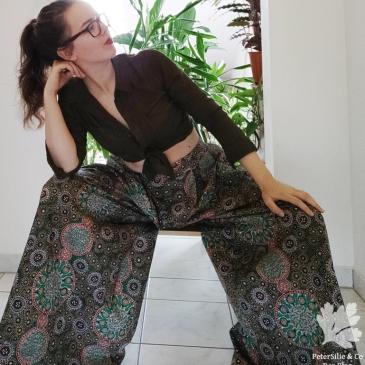 Winslow Culotte Helens Closet Karlotta Pink Blog Nähen Nähblog Hose Aborigine