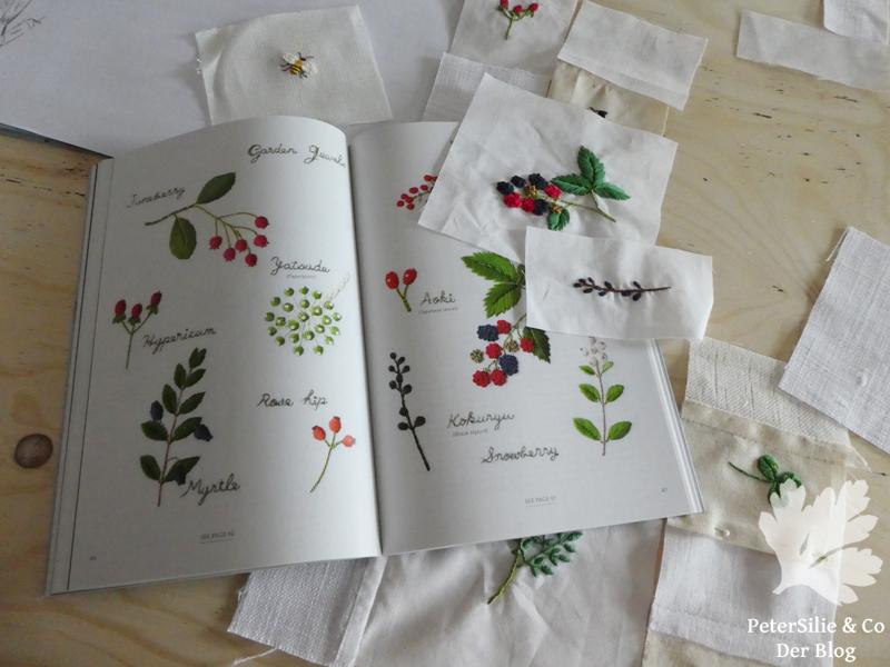 Embroidered Garden flowers Kazuko Aoki Sticken Blog Stickblog Blumen