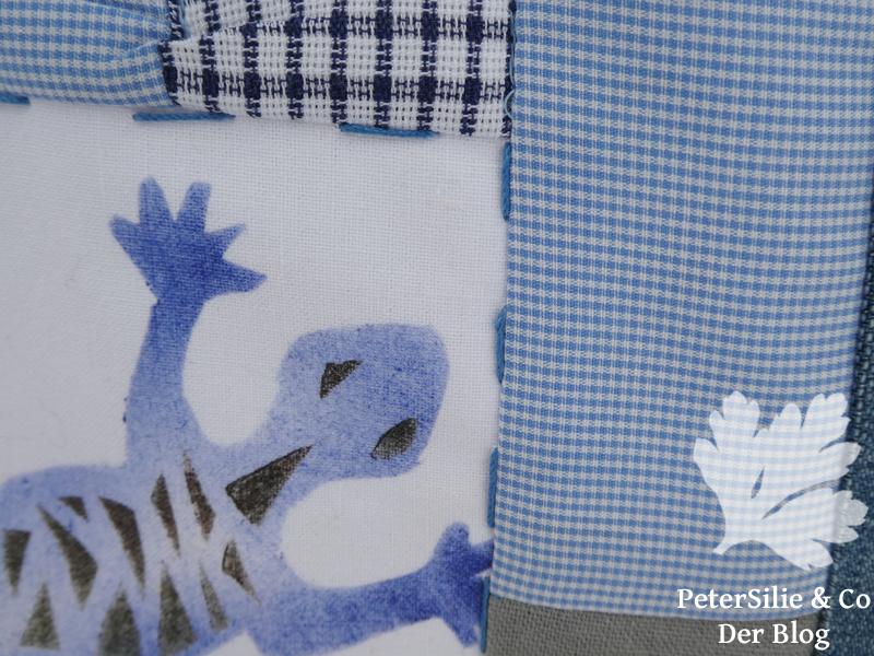 Geckoläufer stenceln patchwork upcycling