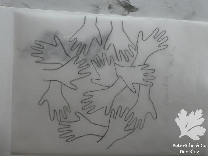 Bleiststiftentwurf Hände