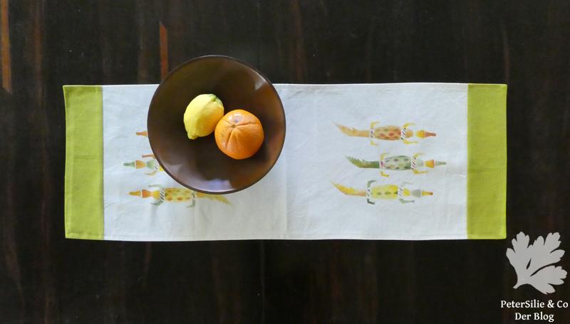 Tischläufer Schablonenmalerei